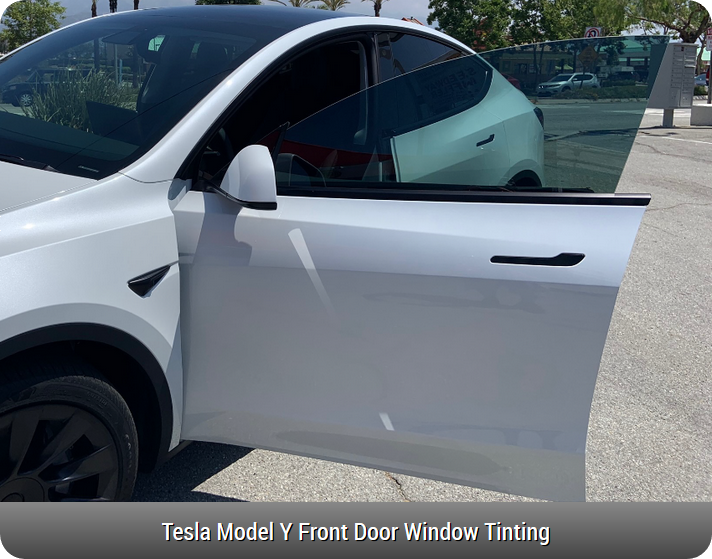Tesla Model Y Front Door Window Tinting